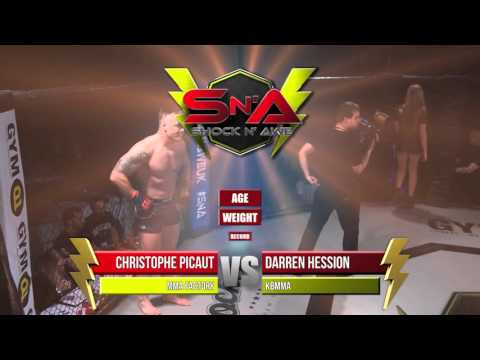 Shock N Awe 22 Pro MMA Christophe Picaut Vs Darren Hession