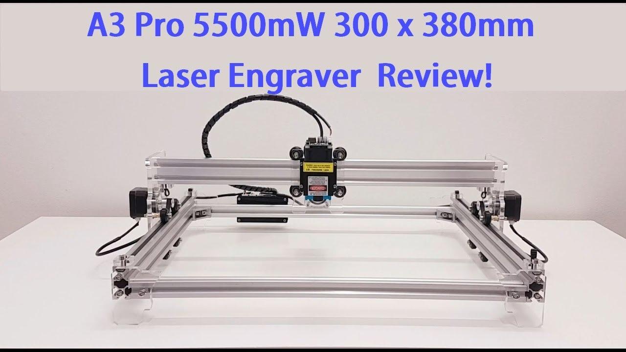 A3 Pro 5500mW 300 x 380mm DIY Laser Engraver Build,Test ...