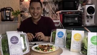 Vegetory's Mediterranean BBQ Chicken Grill on Green Salad Island