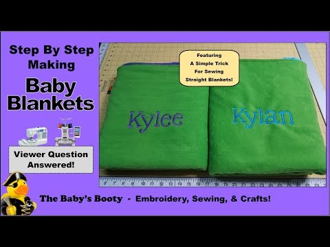 How to make Baby Blankets! A step by step tutorial
