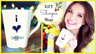 DIY Coffee Mugs ❄ #DIYDecember Day 9(A super easy and budget friendly gift that's totally customizable! Here's another DIY gift idea: http://youtu.be/sH_9Y_ZxRAY Tweet or Instagram a #DIYDecember ..., 2013-12-10T22:43:21.000Z)