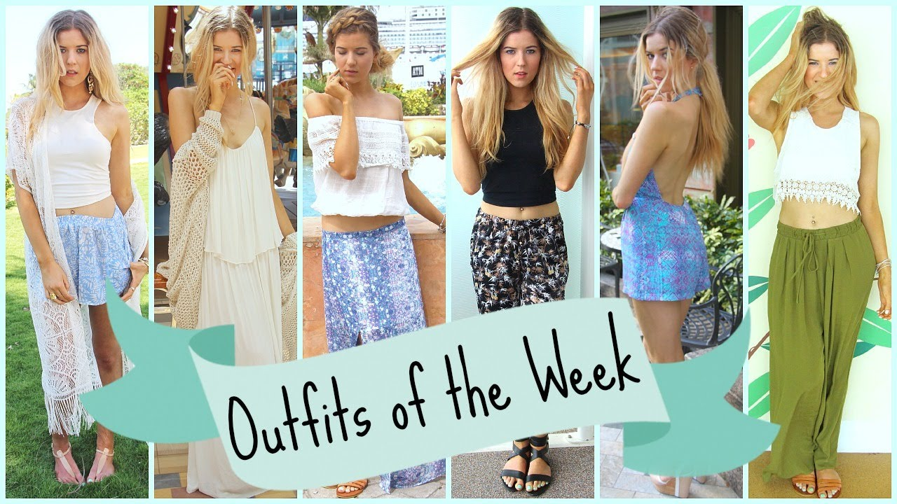 33b5233e7909 Outfits of the Week  Spring Break ☼ Caribbean Cruise - YouTube