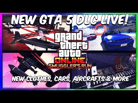 GTA 5 SMUGGLER'S RUN DLC - SPENDING SPREE!! NEW GTA 5 SMUGGLER'S RUN DLC! (GTA 5 LIVE)