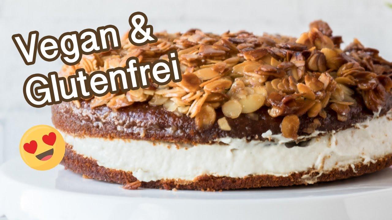 Veganer & Glutenfreier Bienenstich   lockerer Rührteig super lecker und  ohne Hefe