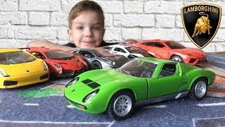 Машинка Ламборджини Миура Распаковка игрушки Видео про спортивные Lamborghini Kinsmart Cars Toys