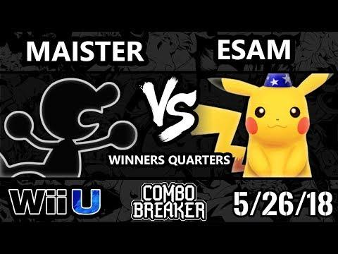 Combo Breaker 2018 Smash 4 - KJS   Maister (G&W) Vs. PG   ESAM (Pikachu) - Wii U Winners Quarters