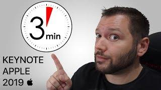 Keynote Apple 2019 en 3 minutes