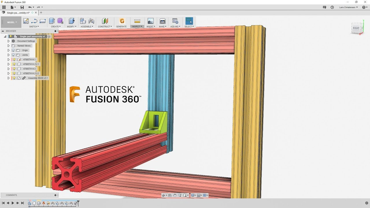 Understand Joints & How To Handle 80/20 Rails — Fusion 360 Tutorial —  #LarsLive 151