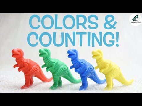 공룡과 함께 색상과 숫자 세기 배우기 | 유아용 | Learning Toolkit에서