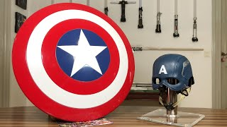 Captain America's Shield from Marvel Legends and Helmet from CATTOYS