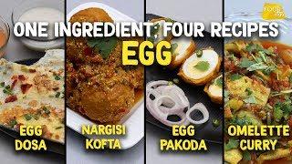 Eggs Dosa | Egg Pakora | Nargisi Kofta | Omelette Curry | Egg Recipes | Food Tak