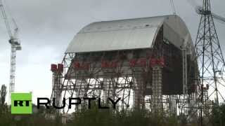 Chernobyl video: First stage of new sarcophagus complete