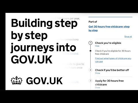 Building Step By Step Journeys Into GOV.UK