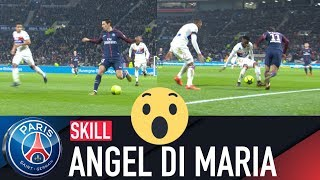 SKILL  GESTE TECHNIQUE  ANGEL DI MARIA - LYON vs PARIS SAINT-GERMAIN