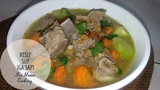 RESEP SUP IGA SAPI  CARA MEMBUAT SUP IGA SAPI  HOW TO MAKE RIBS SOUP AND QUICK TENDER