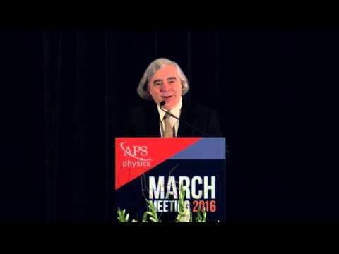 Keynote Address: Secretary Ernest Moniz