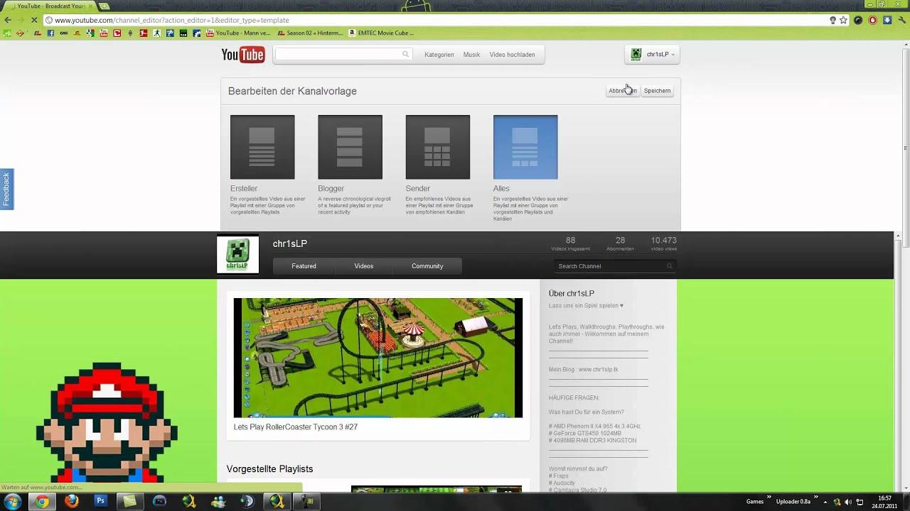 Neues Youtube Layout Aktivieren - CosmicPanda - YouTube