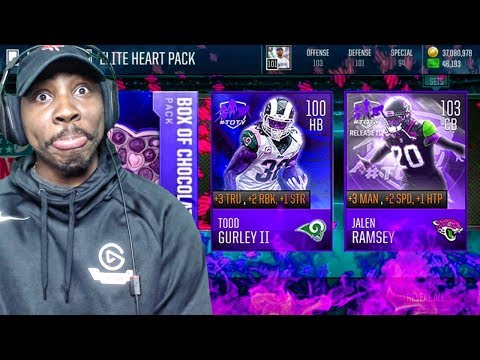 EXCLUSIVE VALENTINE'S DAY PACK OPENING w/NEW 100 OVR TOTY ELITES! Madden Mobile 18 Gameplay Ep. 33