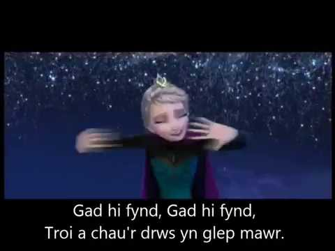 Welsh Angel ... Let it Go (in Welsh) with lyrics