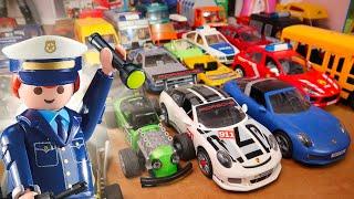 ma COLLECTION de voitures playmobil (porsche, police, pompier, city life)