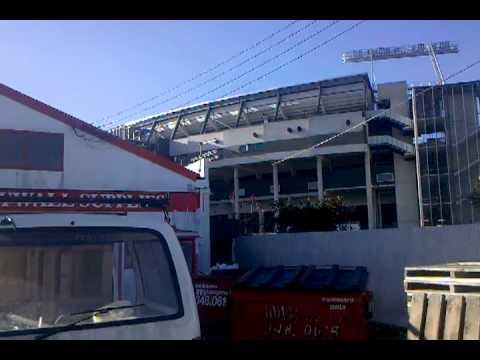 Earthquake Christchurch 13/6/11 behind AMI Stadium, Footage 1