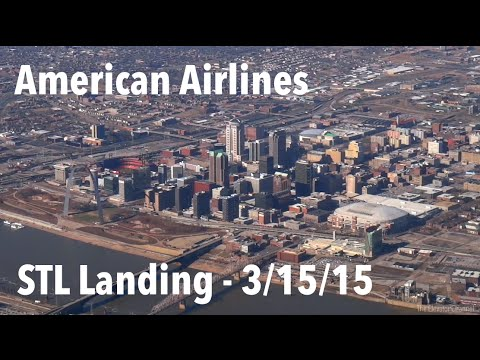 AMAZING American MD-80 Approach and Landing in St. Louis