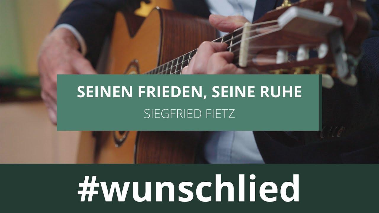 Siegfried Fietz singt 'Seinen Frieden, seine Ruhe' #wunschlied