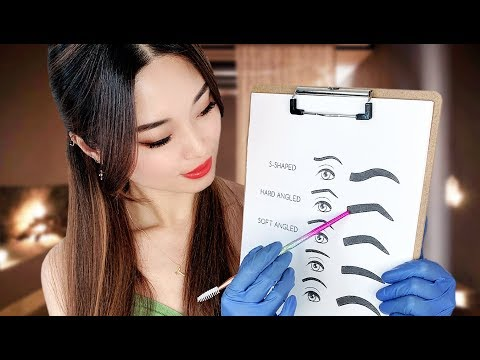 [ASMR] Beauty Salon ~ Doing Your Eyebrows And Eyelashes