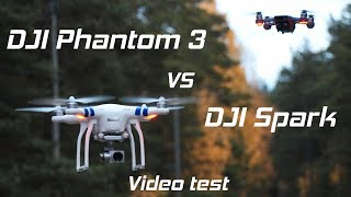 DJI Phantom 3 Standard vs DJI Spark | Video Test