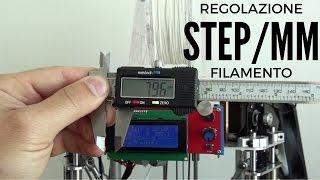 Come Regolare Gli Step/mm Di Una Stampante 3D - Estrusore