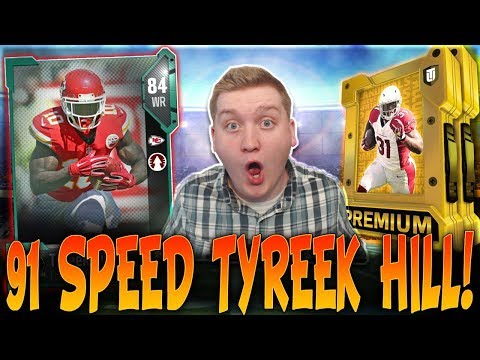 HOLY CRAP! 91 SPEED TYREEK HILL! | FOOTBALL OUTSIDERS RETURN TO MADDEN 18! | MUT 18 PACK OPENING