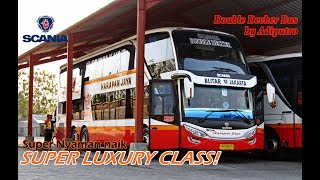 Download Video Trip Naik HARAPAN JAYA DOUBLE DECKER Kelas SUPER LUXURY! Super Nyaman! Tulungagung-Jakarta part. 1 MP3 3GP MP4
