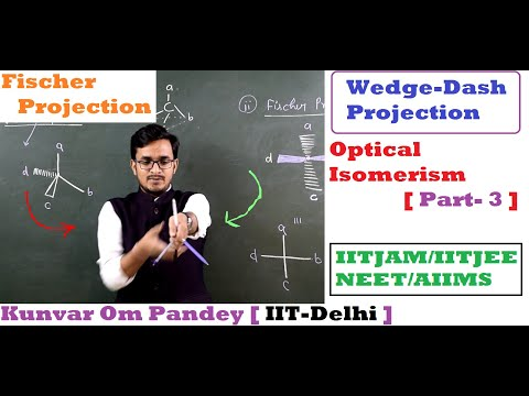 Stereoisomerism-7 || Optical Isomerism#3 || Fischer Projection / Wedge Dash Projection || By OM Sir
