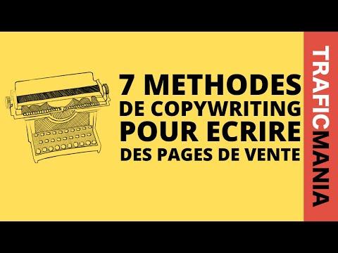 7 méthodes copywriting pour écrire des pages de ventes