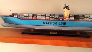 Emma Maersk Handmade Wooden Model