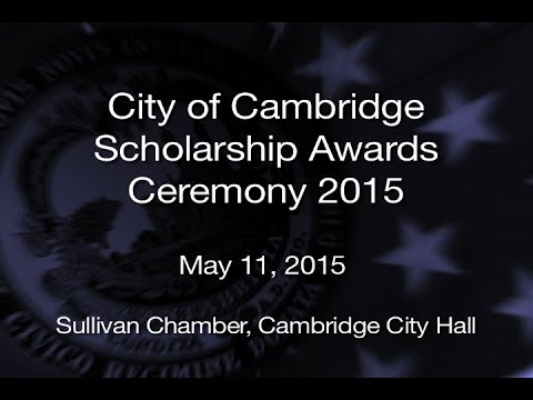 City of Cambridge Scholarship Awards Ceremony 2015