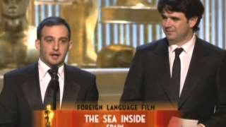 The Sea Inside Wins Foreign Language Film: 2005 Oscars