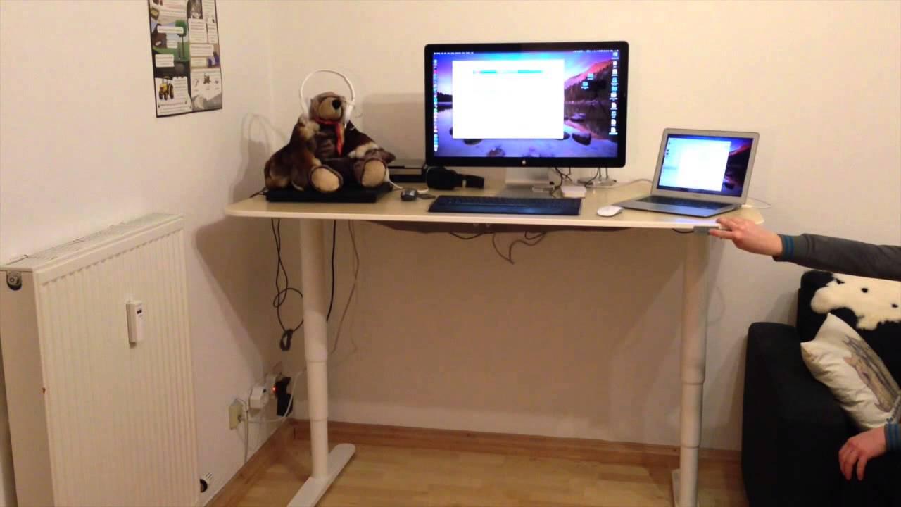 Ikea Bekant Sit Stand Desk Sitz Und Stehschreibtisch