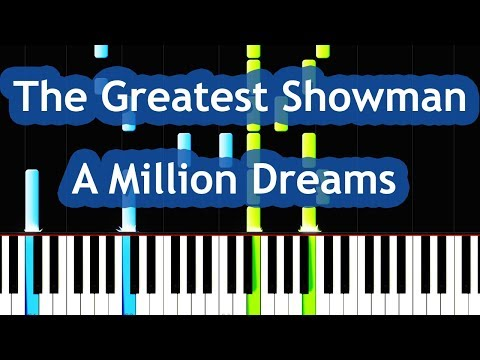 The Greatest Showman - A Million Dreams Piano Tutorial