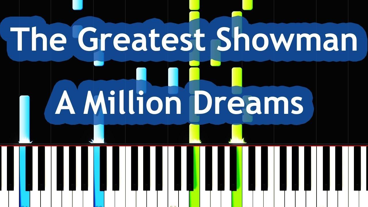 The Greatest Showman - A Million Dreams Piano Tutorial