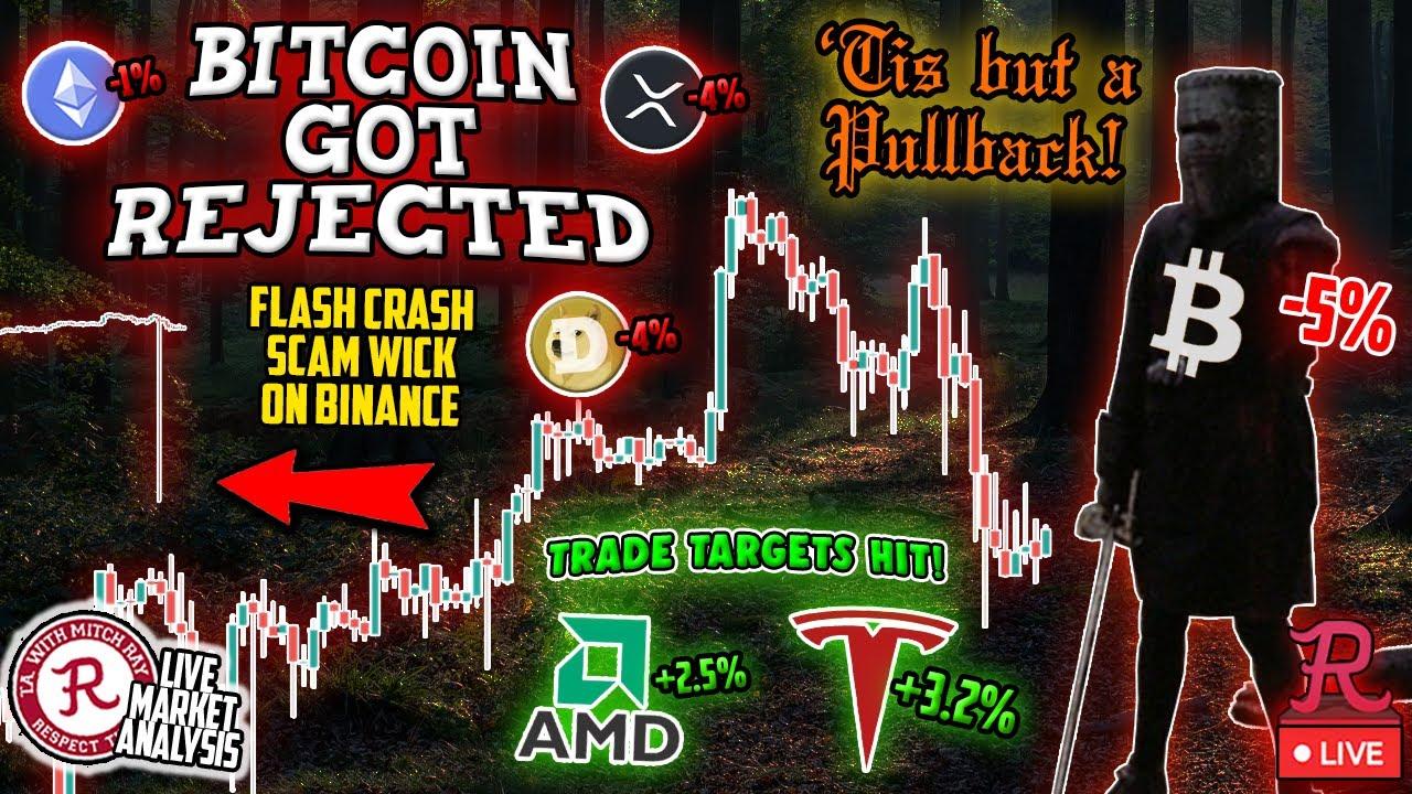 Download Bitcoin Live : BTC FLASH CRASH TO $8150 ON BINANCE! REKT