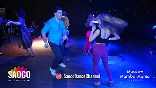 Alexandr Maneev and Kseniya Serechenko Salsa Dancing at 2nd Moscow MamboMania weekend, Fri 08.03.19