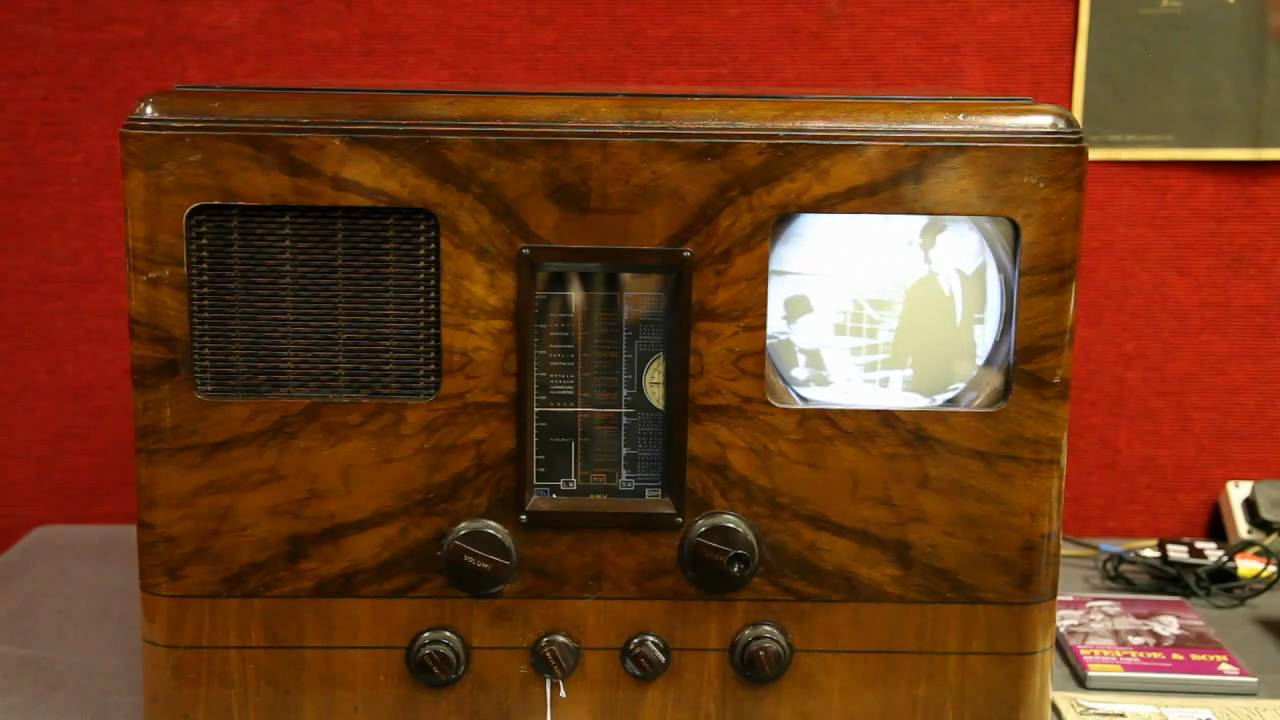 HMV 905 table model pre war television  YouTube -> Model Table Tele