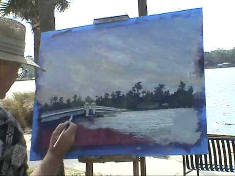 Stinson Park Plein Air Gary Garrett painting demo