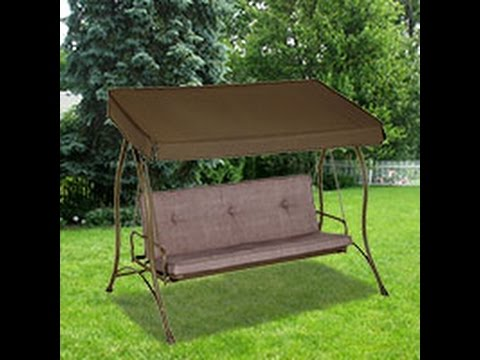 Merveilleux ACE Patio Swing Cushions, Seat Support And Canopy Fabric Replacement