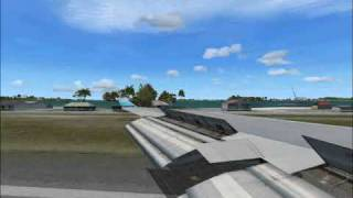 Boeing 747 Landing at St Marteen Thumbnail