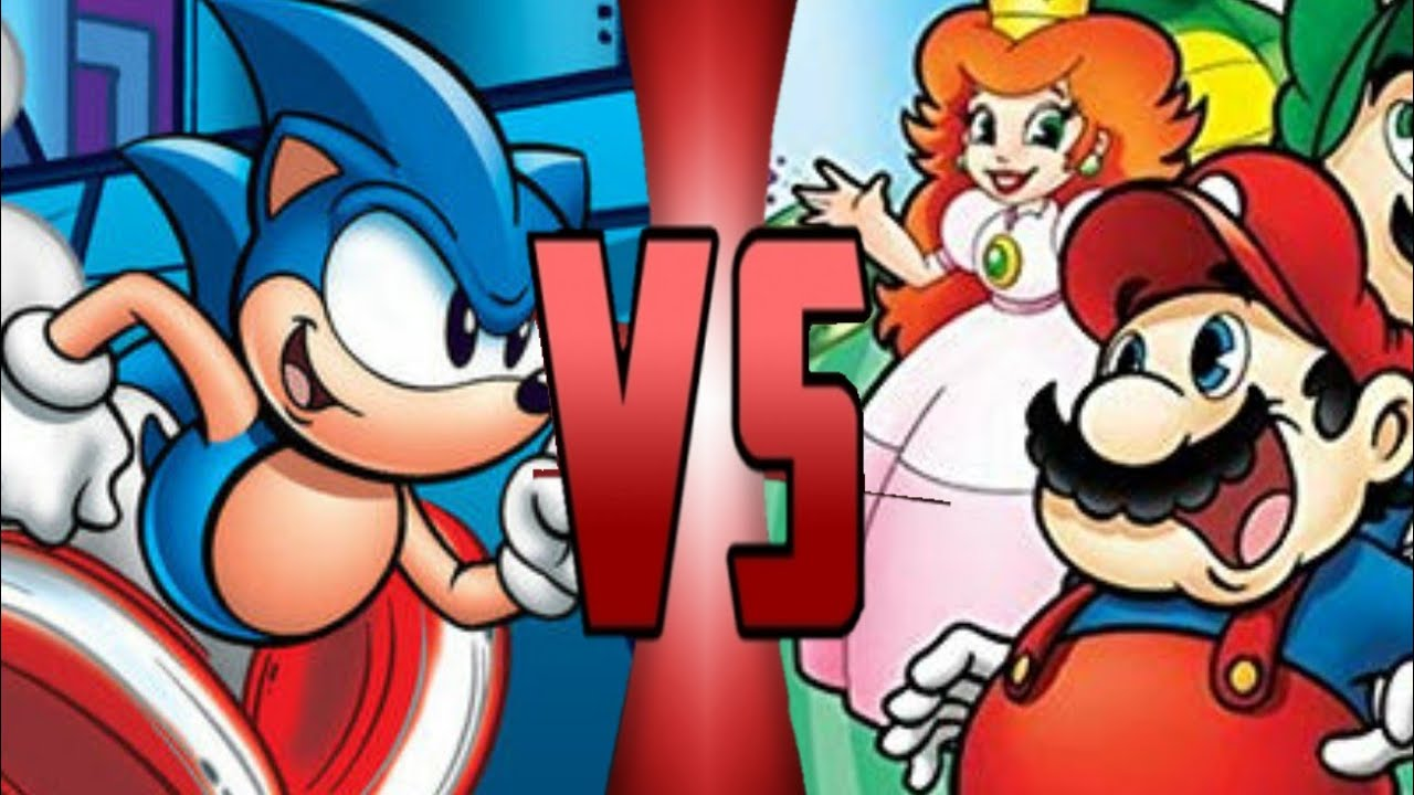 The Adventures Of Sonic The Hedgehog Vs The Super Mario Bros Super