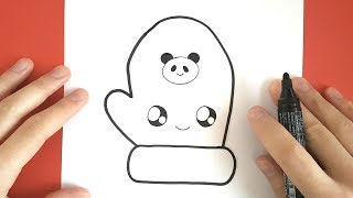 easy draw glove drawing getdrawings myhobbyclass