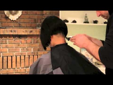 Short Bob Haircut Update Buzzing The Nape And Shaping The