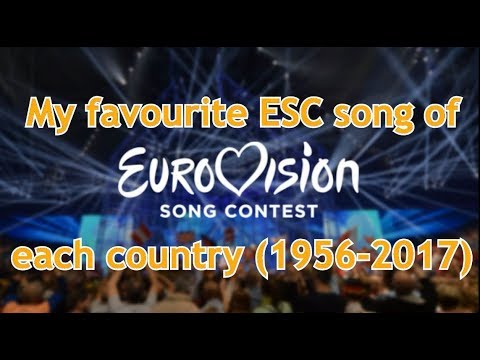 My favourite song of each country in Eurovision (1956-2017)
